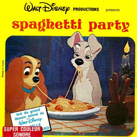 La Belle Et Le Clochard Spaghetti Party Film Super 8 Bd Cine Com